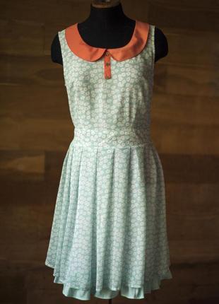 Нежное платье бирюзового цвета yumi, размер l