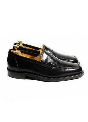 Кожаные туфли лоферы goodyear welted мокасины топсайдеры