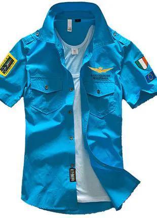 Летняя мужская рубашка в стиле Милитари.
