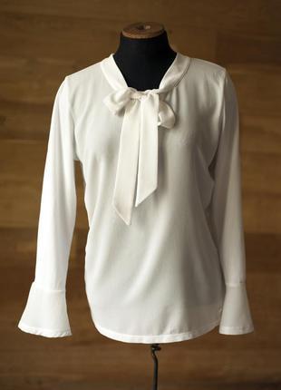Красивая белая блузка tom tailor, размер м