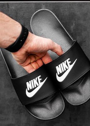 Шикарные мужские летние тапки nike black ◈ шлёпки ◈ тапочки ◈с...