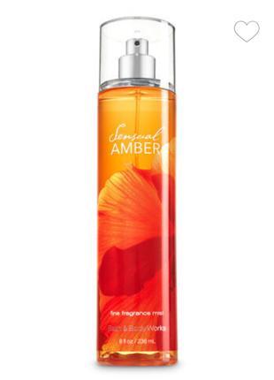 Спрей для тела Bath & Body Works Sensual Amber Fragrance Mist