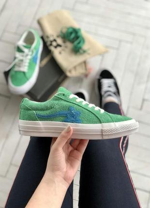 Женские низкие кеды converse green ✰ зеленого цвета 😻 (35-39 рр)