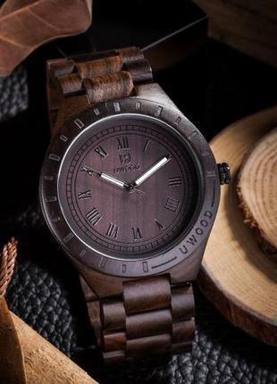 Деревянные наручные часы Uwood, ручная работа, в 5и цветах