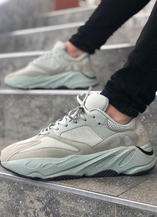 Мужские бежевые кроссовки adidas yeezy boost 700
