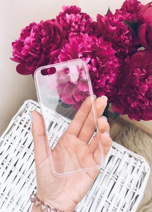 Новый силиконовый прозрачный чехол на iphone 6,6s