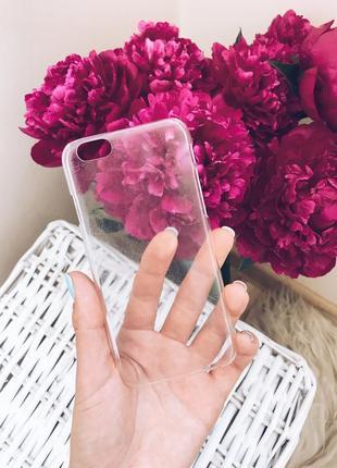 Прозрачный пластиковый чехол на iphone 6,6s