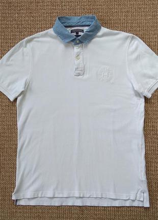 Tommy hilfiger поло футболка slim fit оригинал (xl)