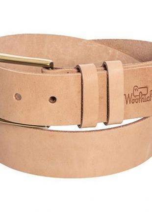 Ремень кожаный мужской woolrich milestone  оригинал из сша