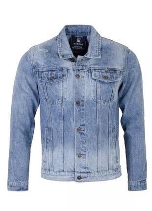 Мужская джинсовая куртка, большой размер.