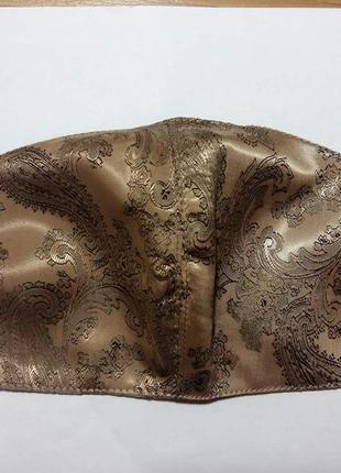 Защитная маска многоразового использования коричневая