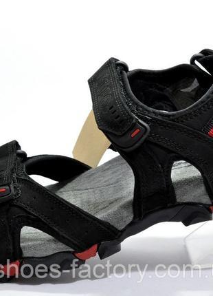 Мужские кожаные сандалии Supo, Черный/Серый, купить недорого