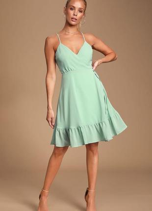 Платье мятно-зелёное