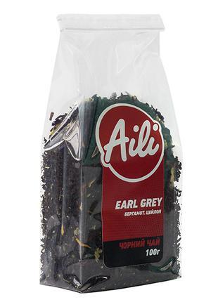 Чай Earl Grey Черный с бергамотом крупнолистовой Aili рассыпной 1