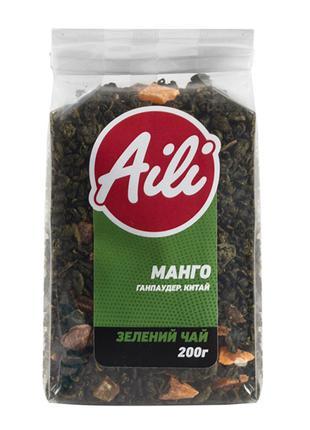 Чай Зеленый Манго крупнолистовой Aili рассыпной 200 г