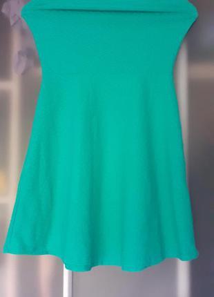 Бирюзовый сарафан платье