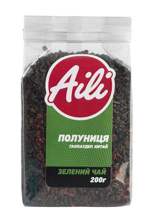 Чай Зеленый Клубника крупнолистовой Aili рассыпной 200 г