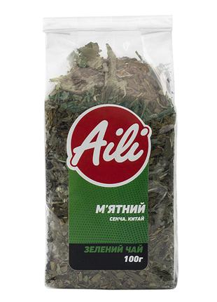 Чай Зеленый Мятный крупнолистовой Aili рассыпной 100г