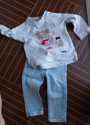 Фирменная одежда для девочки на 1-2 года