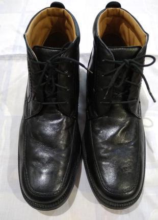 Ботинки clarks деми кожаные. 41-41,5 размер, 27,5 см