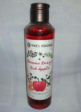 """Парфюмированный гель yves rocher для душа """"красное яблоко"""" ив ..."""