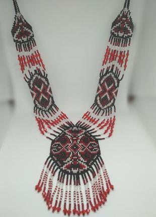 Красный гердан в этно стиле