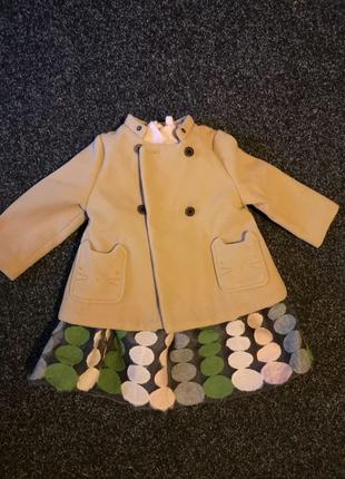 Пальто H&M 9-12 мес