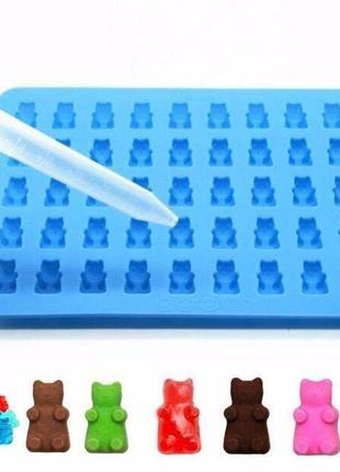 Силиконовая форма для мармелада, конфет мишки Gummy Bears