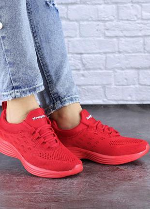 Спортивные женские кроссовки, красные, весна, лето, осень, 36-41
