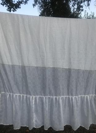Капроновые белые тюль, штора , занавес , гардина 150см*220см с...