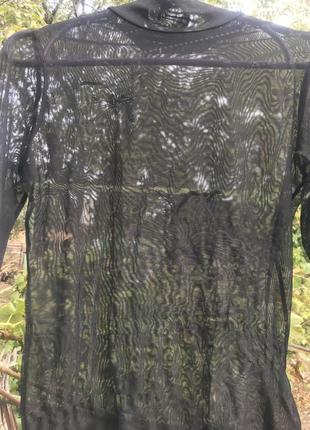 Чернёная водолазка сетка с цветочным узором