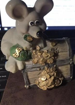 Статуэтка копилка денежная мышка символ 2020 года