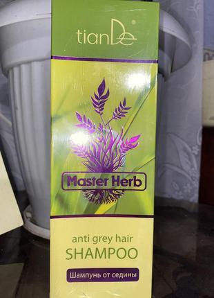 Лечебный шампунь от седины и выпадения волос тианде 420мл
