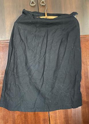 Шерстяная длинная натуральная юбка