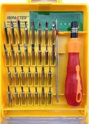Набор отвёрток инструментов 32в1 для ремонта телефона и мелкойБЫТ
