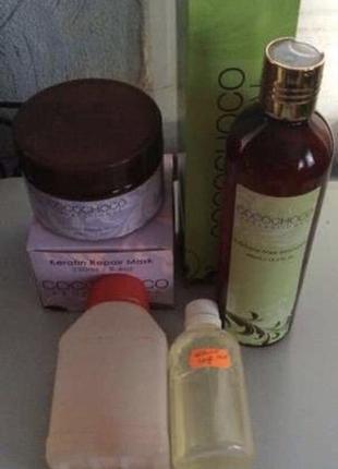 Кератин для выравнивания волос коко чоко