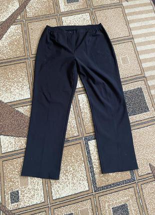 Большие тёплые классические брюки на флисе