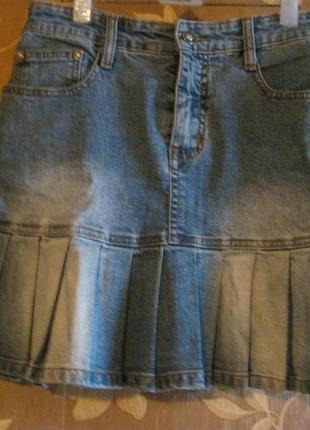 Джинсовая женская юбочка