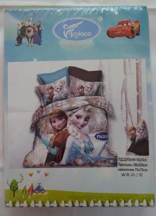 """Комплект постельного  белья для девочек """"холодное сердце"""""""