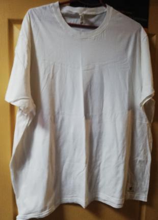 Белая мужская футболк аDOMYOS 3XL