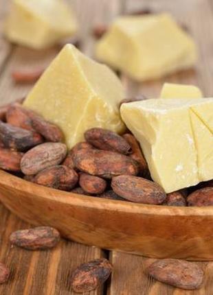 Масло какао холодного отжима с сохранением всех полезных веществ