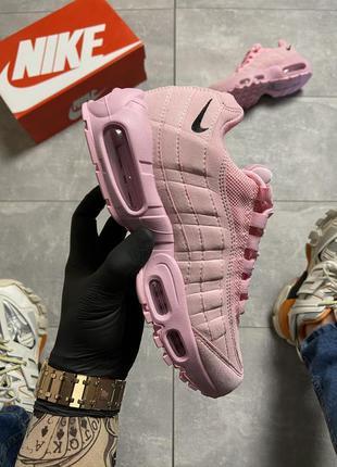 Розовые женские кроссовки nike air max 95 pink.