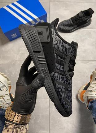 Мужские черные кроссовки adidas eqt cushion adv black.