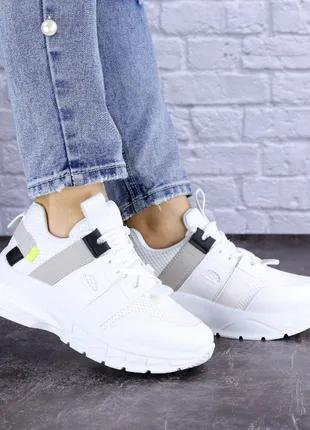 Красивые женские кроссовки, белые, весна, осень, р. 36-41, YAF