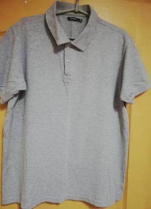 Поло серого светлого цвета меланж atlant размер xl