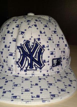 Кепка (бейсболка)с прямым козырьком new york