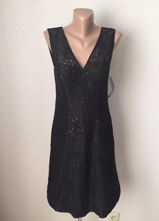 Новое (с этикеткой) нарядное кружевное платье от yessica (c&a)...