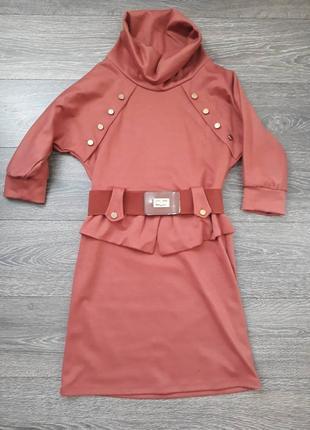 Нарядное и теплое платье