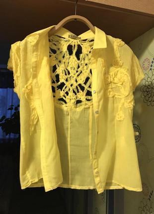 Классная желтая блуза.