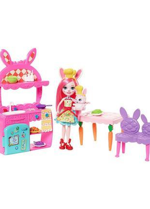Игровой набор с куклой Enchantimals Кухня для Кролика Бри и Твист